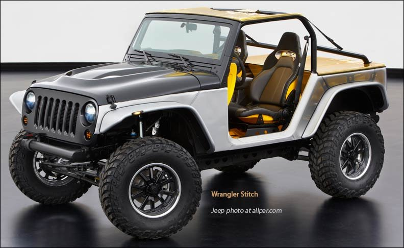Delightful Jeep Wrangler Stitch: 2013 Moab Concept