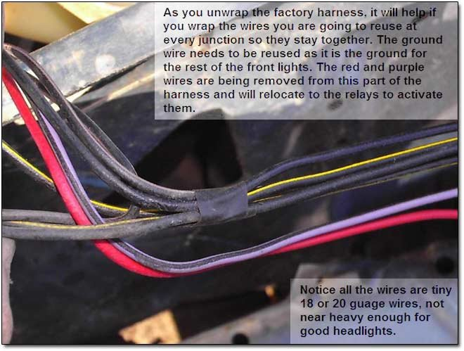 stock harness headlight upgrades for vintage cars with sealed beam headlights daniel stern wiring harness at n-0.co