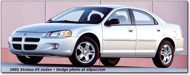 2001-2006 Dodge Stratus and Chrysler Sebring Sedans