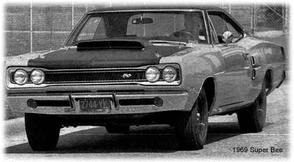 1969 Dodge Super Bee with 440 six-pack engine