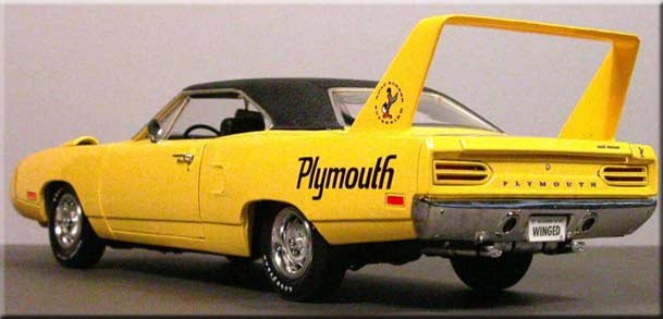 Plymouth Superbird model rear view