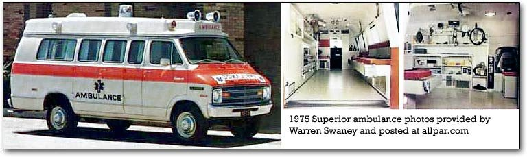 dodge-based superior ambulance