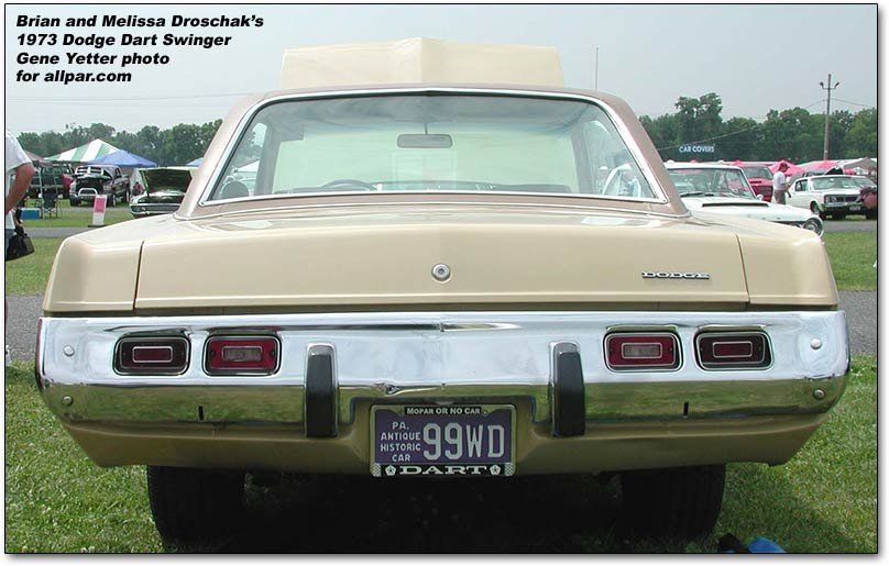 1967 to 1981 Dodge Dart compact cars