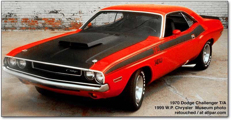 1970-1974 Dodge Challenger specials: R/T, Deputy, T/A, and Rallye