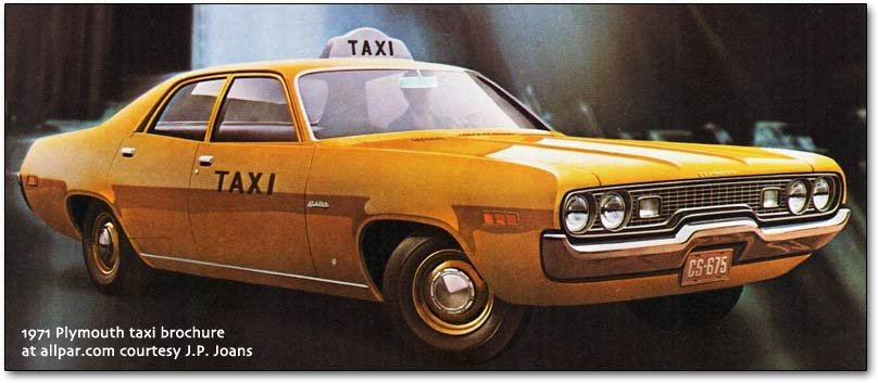 1971 Plymouth taxi brochure