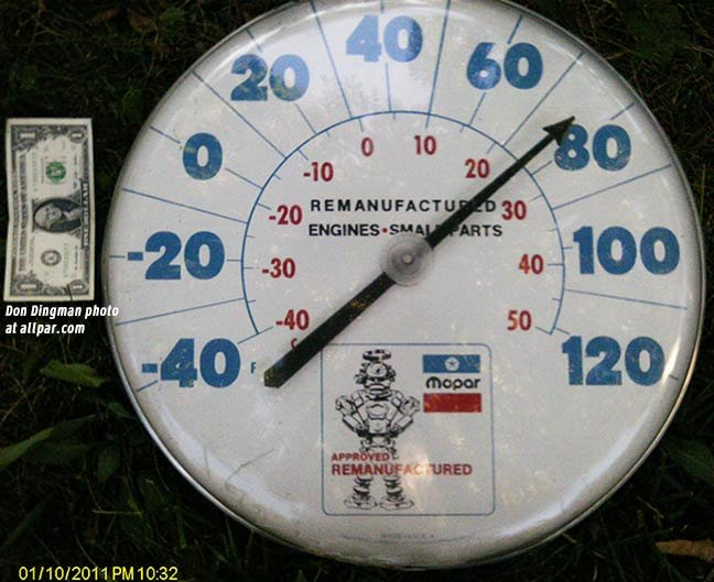 mopar thermometer
