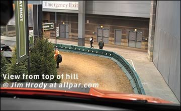 top of Chicago Auto Show hill