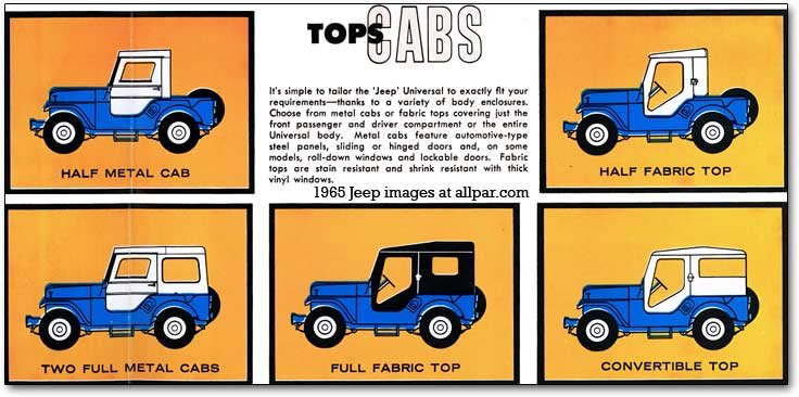 jeep CJ tops