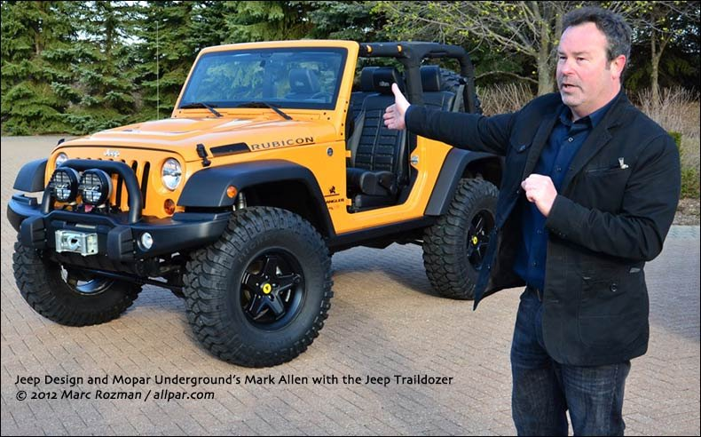 Aev Dualsport Rs 3 5 Inch Suspension Lift >> Jeep Traildozer: 2012 Wrangler concept vehicle