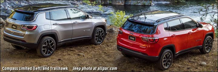 compass trailhawk vs limited
