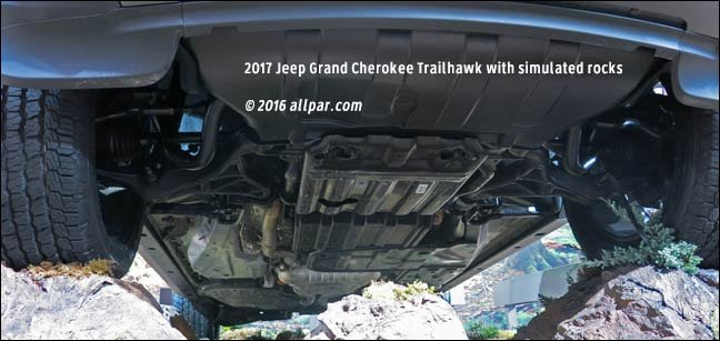 underside of the Grand Cherokee Trailhawk