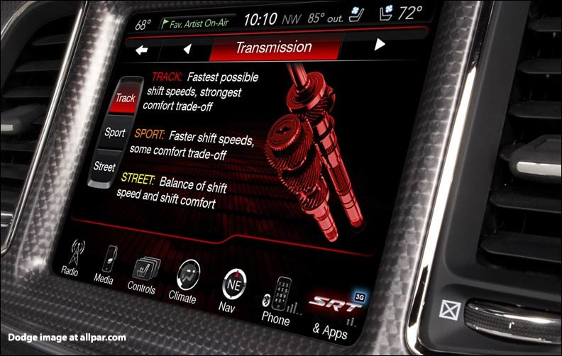track mode in ZF eight speed automatic