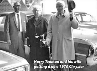 Harry Truman and 1970 Chrysler