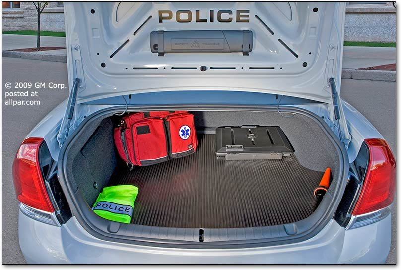 Caprice PPV police car trunk