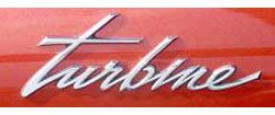 turbine car nameplate