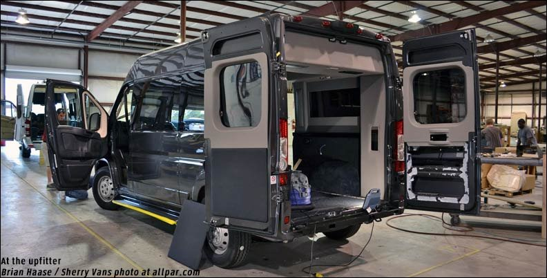 Sherry luxury vans based on the Ram ProMaster