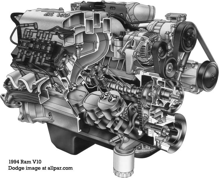 the dodge truck v engine