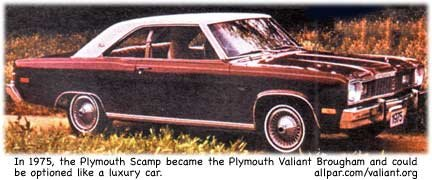 1975 Plymouth Valiant Brougham cars