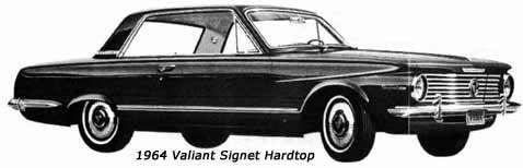 1964 valiant signet car hardtop