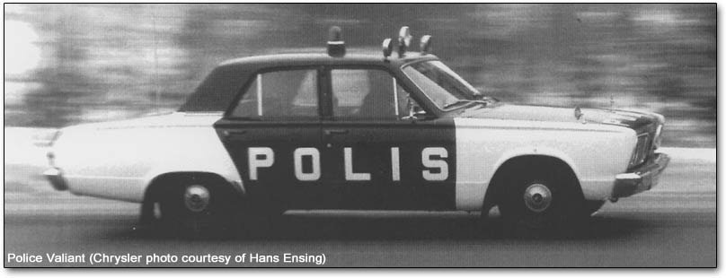 Police Valiant car
