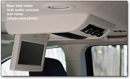 Our Test Vehicle Also Had Rear Seat Video Which Is The Traditional Dvd Based System With External Audio Inputs In Case You Destroy Player Or Want