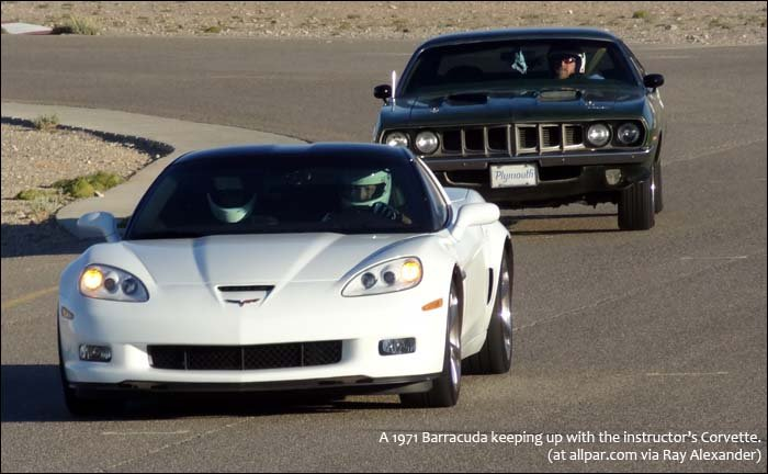 Instructor's Corvette and Barracuda