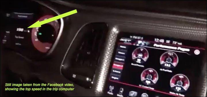 Facebook Hellcat 198 mph video