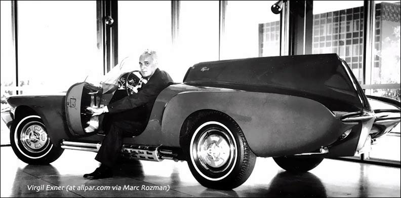 virgil exner with concept car