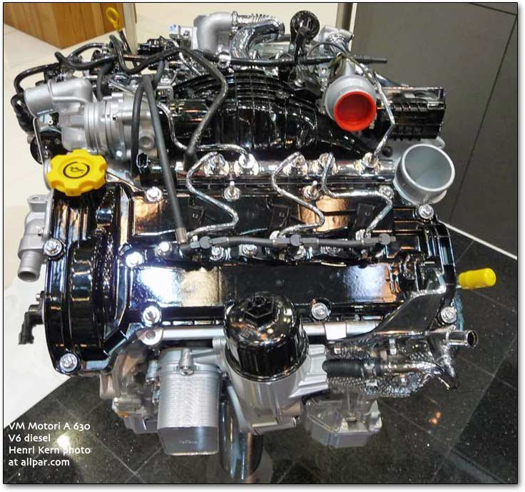 VM Motori V6 diesel for Chrysler and Jeep