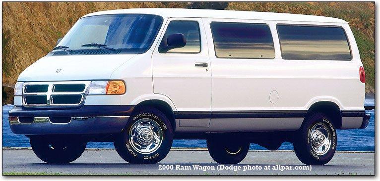 Blue Dodge Minivan