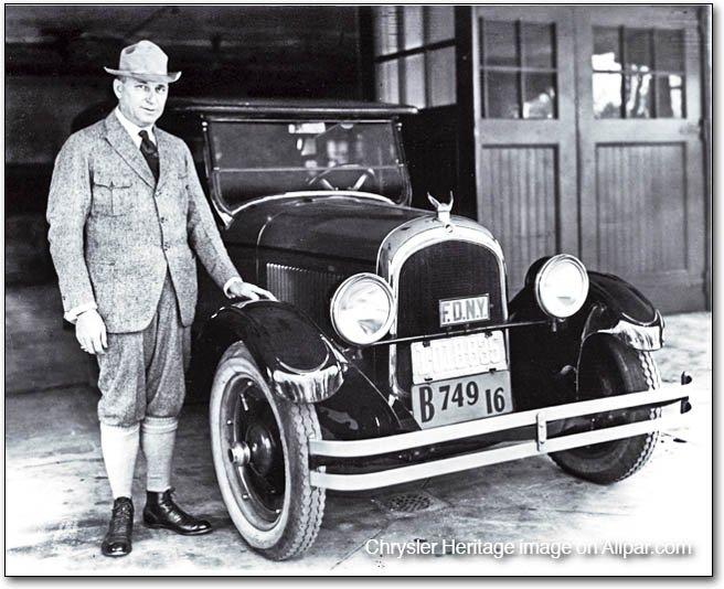 Walter P Chrysler & First Car