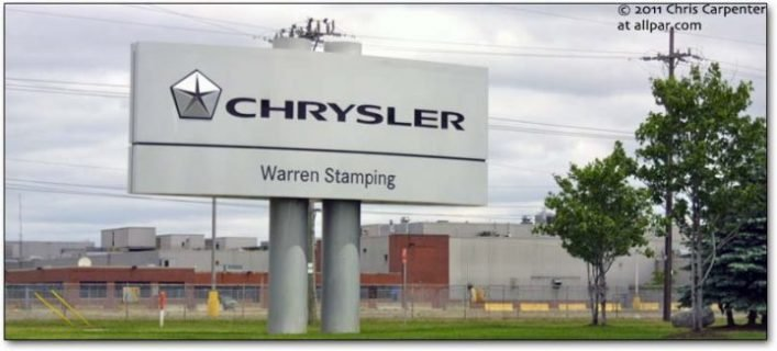 warren stamping plant-sign