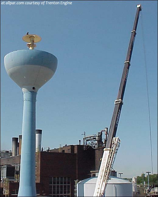 Trenton Water Tower Demolition : Trenton engine water tower coming down
