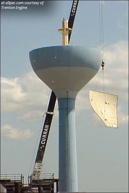 trenton engine water tower coming down. Black Bedroom Furniture Sets. Home Design Ideas