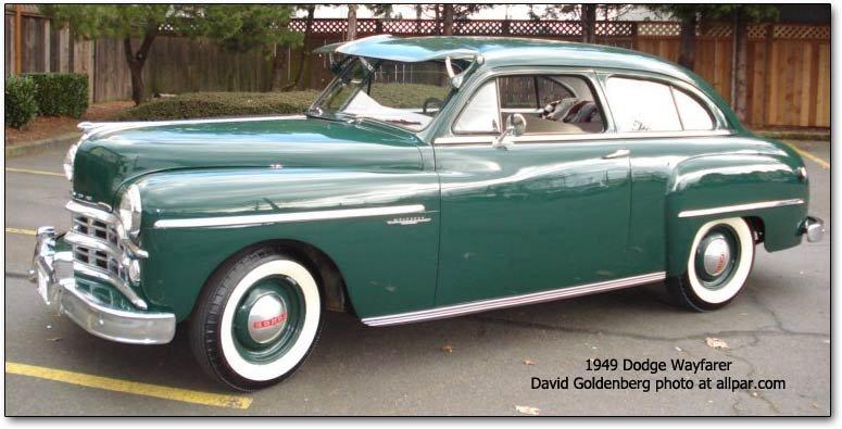 1949 - 1952 Dodge Wayfarer: stylish smaller Dodges