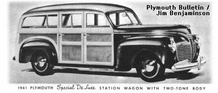 1941 Plymouth station wagon