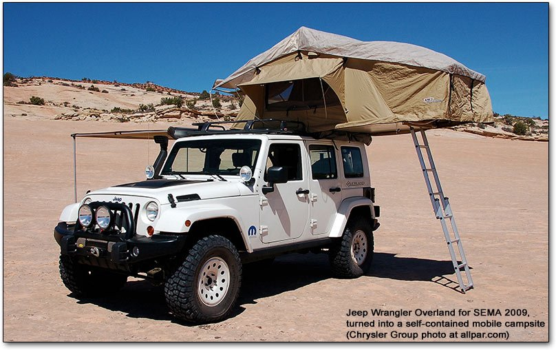 SEMA Jeep Wranglers for 2008 and 2009: Lower Forty and Overland Camper