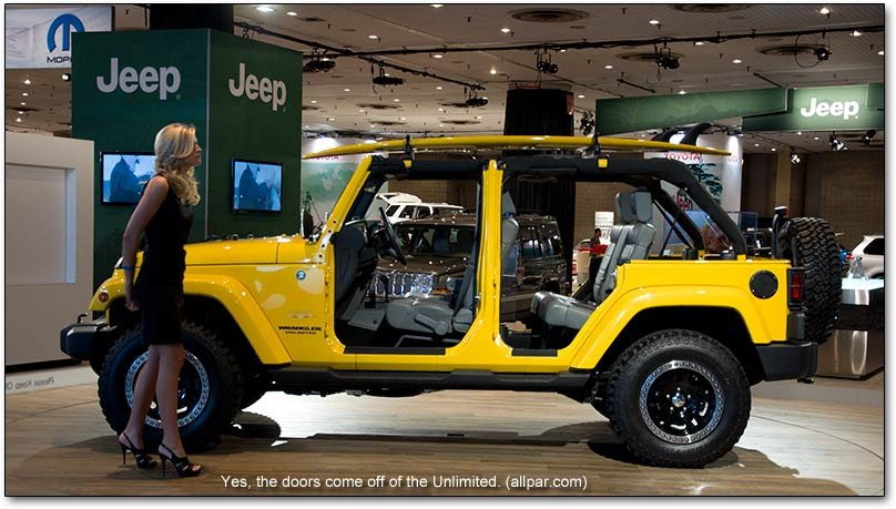 Jeep Wrangler with model