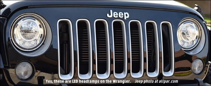 2017 Jeep Wrangler LED headlights
