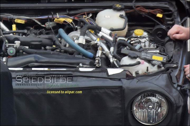 wrangler engine spy shot