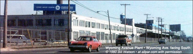 Chrysler Wyoming Avenue plant in 1980