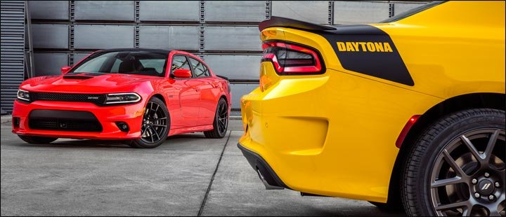 yellow and red cars