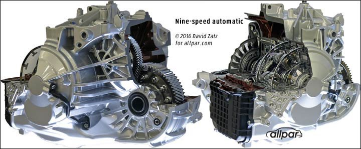 Chrysler-Jeep nine speed automatic transmission updates
