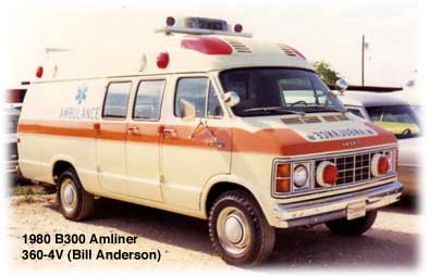 Dodge full-size van based ambulance