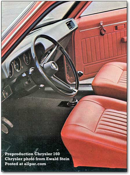 chrysler 160 interior