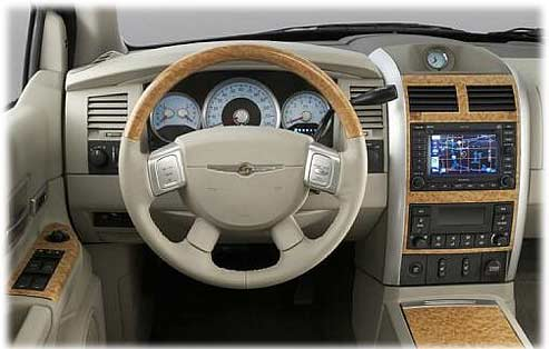inside the chrysler aspen