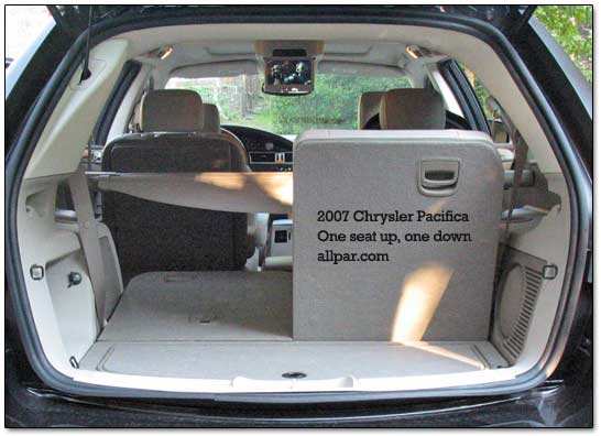 chrysler pacifica cargo space dimensions. Black Bedroom Furniture Sets. Home Design Ideas