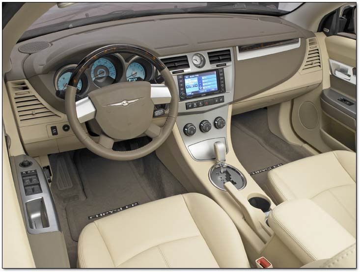 inside the 2008 chrysler sebring convertible