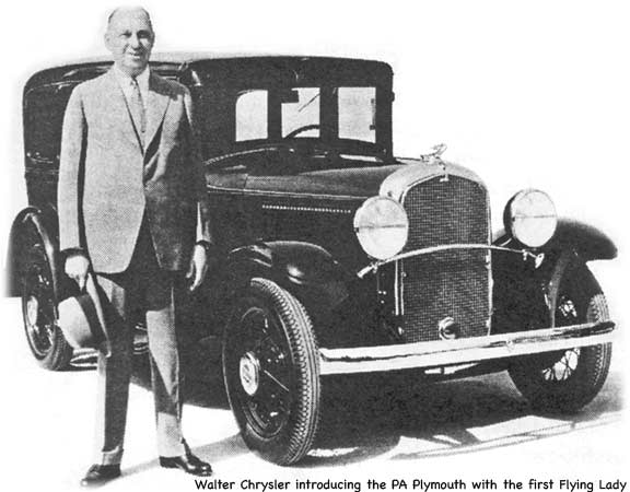 Walter P. Chrysler with the Plymouth PA