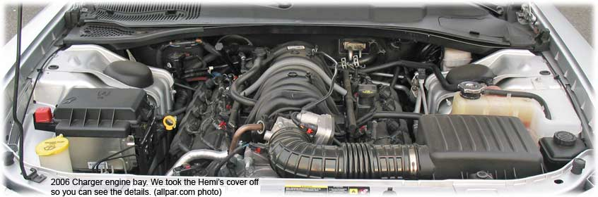 Hemi engine from Charger R/T